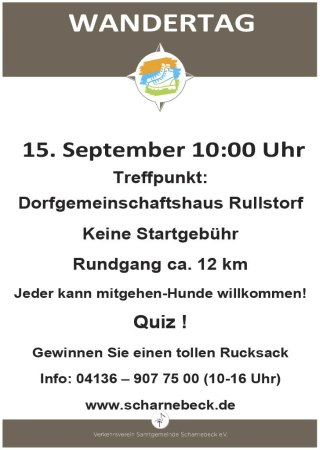 Wandertag Scharnebeck am 15. September 2019